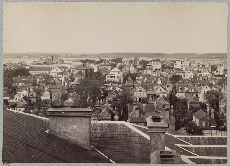 Bird's eye view of the city over rooftops, Charleston, South Carolina, ca. 1861-1865, courtesy of Library of Congress.