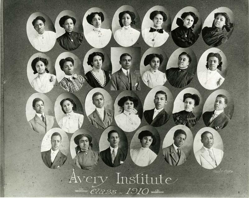 Graduating class of 1910, Charleston, South Carolina, courtesy of the Avery Research Center.