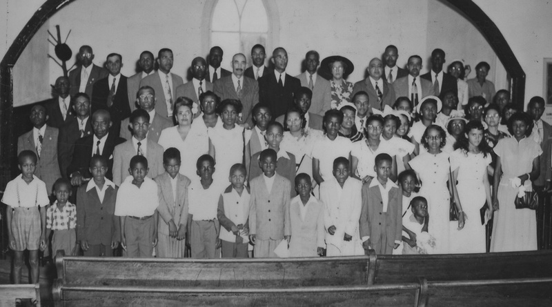 Photograph of Plaintiffs in the Clarendon County School Segregation Case at Liberty Hill A.M.E. Church, Summerton, South Carolina, June 17, 1951, Joseph A. DeLaine Papers, courtesy of the South Caroliniana Library, University of South Carolina.