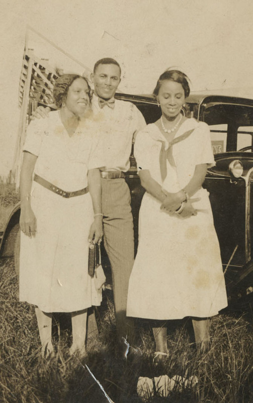 Septima Clark (right), with her brother, Peter T. Poinsette, and his future wife, Lucille Mears, mid-1920s, Septima P. Clark Papers, courtesy of the Avery Research Center.