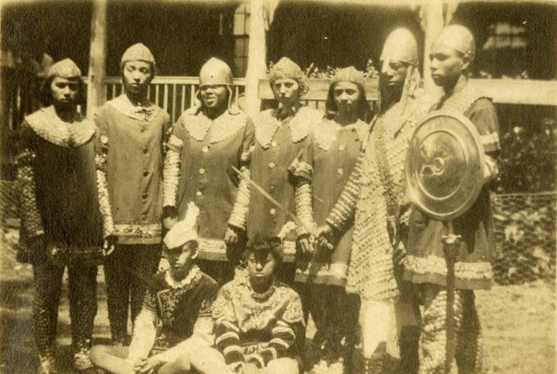 Dramatic Club students in costume for Avery school play, Charleston, South Carolina, 1918, courtesy of the Avery Research Center.