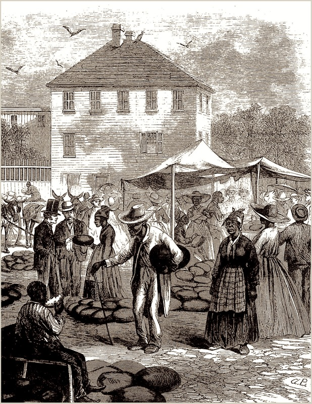 A market scene in Charleston, James E. Taylor, 1866, courtesy of Wikimedia Commons.