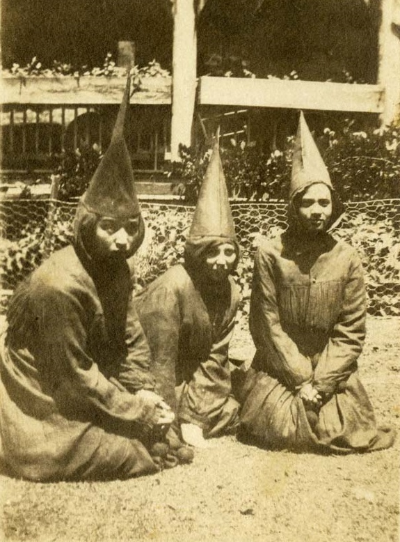 Three Dramatic Club students in costume for an Avery school play, Charleston, South Carolina, ca. 1918, courtesy of the Avery Research Center.