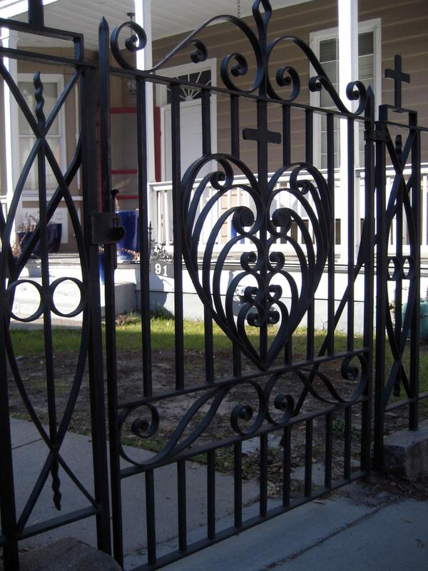 Front gate, 91 Anson Street,image by Bradley Blankemeyer, Charleston, South Carolina, November 2013.