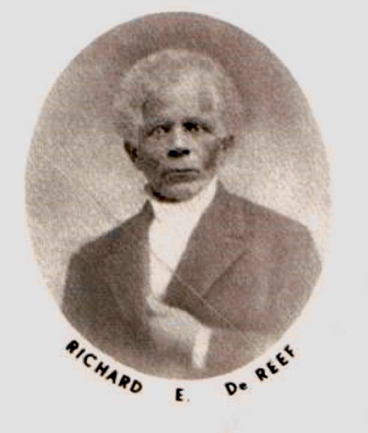 Portrait of Richard DeReef, circa 1870, courtesy of the Avery Research Center for African American History and Culture.