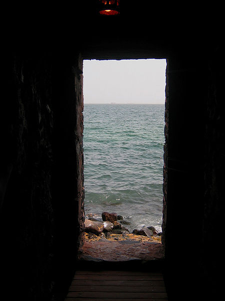 """Door of No Return"" memorial at The House of Slaves, Gorée, Senegal, image taken 2004."