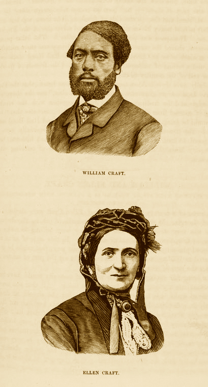 Illustration of William and Ellen Craft, published by Porter & Coates, Philadelphia, Pennsylvania, 1872, courtesy of the New York Public Library Digital Collections.