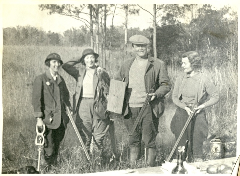 Group hunting at Medway Plantation, circa 1930s, courtesy of the College of Charleston's Special Collections.