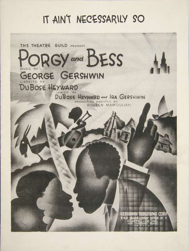 <em>Porgy and Bess</em> sheet music cover, B. Harris, 1935, courtesy of the Newberry Library.