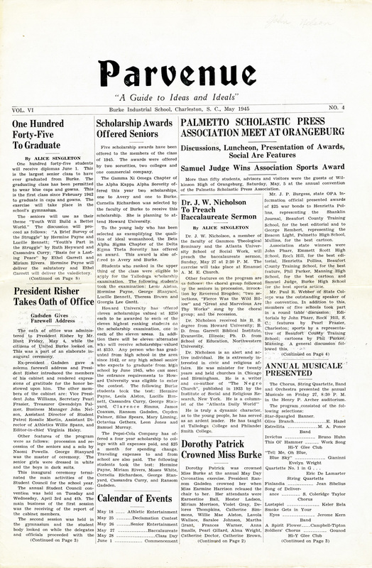 <em>The Parvenue</em>, May 1945, courtesy of Parvenue Collection, Avery Research Center.
