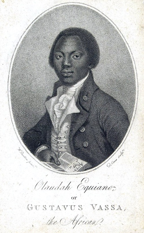 Olaudah Equiano, aka Gustavus Vassa, ca. eighteenth century, courtesy of Project Gutenberg.
