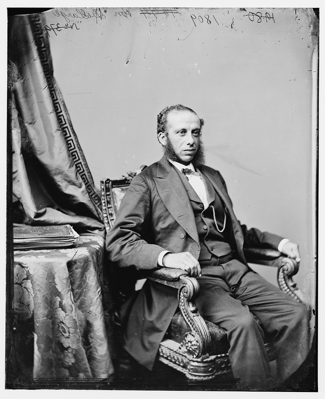 Portrait of Robert Carlos De Large, United States  Representative from South Carolina, photograph by Levin C. Handy, circa 1870, courtesy of Library of Congress.