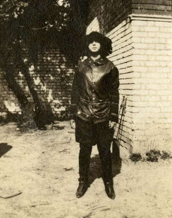 Dramatic Club student in costume for an Avery school play, Charleston, South Carolina, ca. 1920s, courtesy of the Avery Research Center.