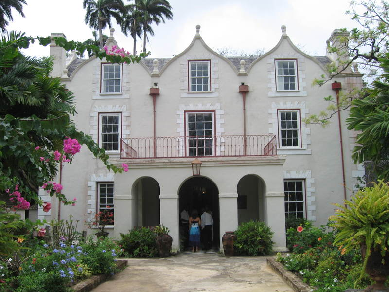 St. Nicholas Abbey, photograph by Mary Battle, Barbados, 2012. Sir John Yeamans was the former occupant of this plantation site in the seventeenth century, before he emigrated to Carolina and briefly became one of the first governors of the new colony. He was also a prominent member of the Goose Creek Men, an anti-regulatory faction in Carolina.