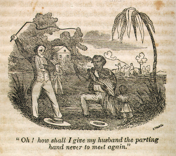 """Oh! how shall I give my husband the parting hand never to meet again,"" illustration from Narrrative of the Life and Adventures of Henry Bibb, An American Slave, Written by Himself, 1849, courtesy of Documenting the American South."