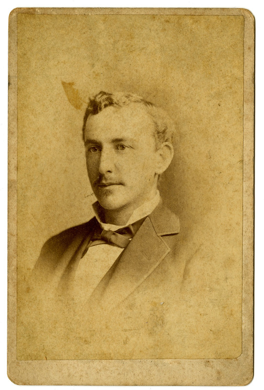 Gustave Moritz Pollitzer, age 25 years old, Charleston South Carolina, ca.1880, Anita Pollitzer Family Papers, South Carolina Historical Society.