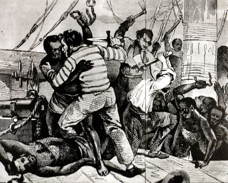"""Revolt Aboard Slave Ship,"" by Isabelle Aguet, <em>A Pictorial History of the Slave Trade</em>, ca. nineteenth century, courtesy of the Virginia Foundation for the Humanities and the University of Virginia Library."
