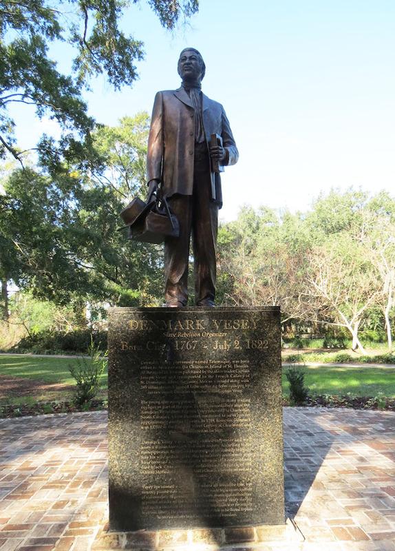 """The Denmark Vesey """"Spirit of Freedom"""" Monument, photograph by Emily Pigott, Charleston, South Carolina, November 2015."""