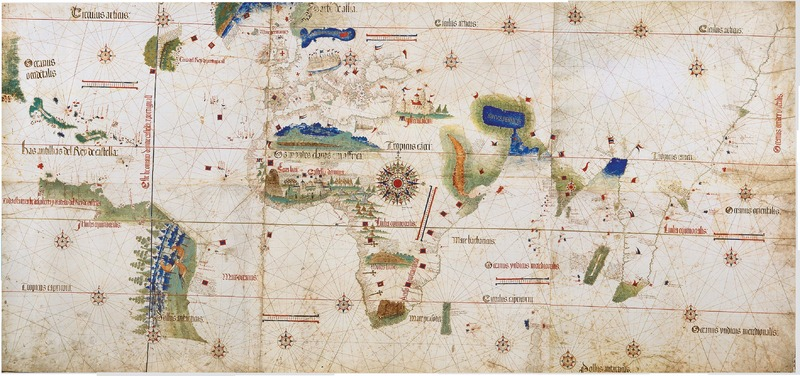 Cantino Planisphere, 1502, courtesy of the Biblioteca Estense, Modena, Italy.