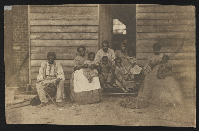 Enslaved family at the Gaines' house, photograph by G. H. Houghton, Virginia, 1862, courtesy of the Library of Congress.