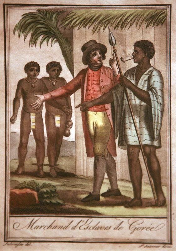 Marchands d'esclaves de Gorée (Slave traders of Gorée), Jacques Grassat de Saint Sauveur, Senegal, 1796.