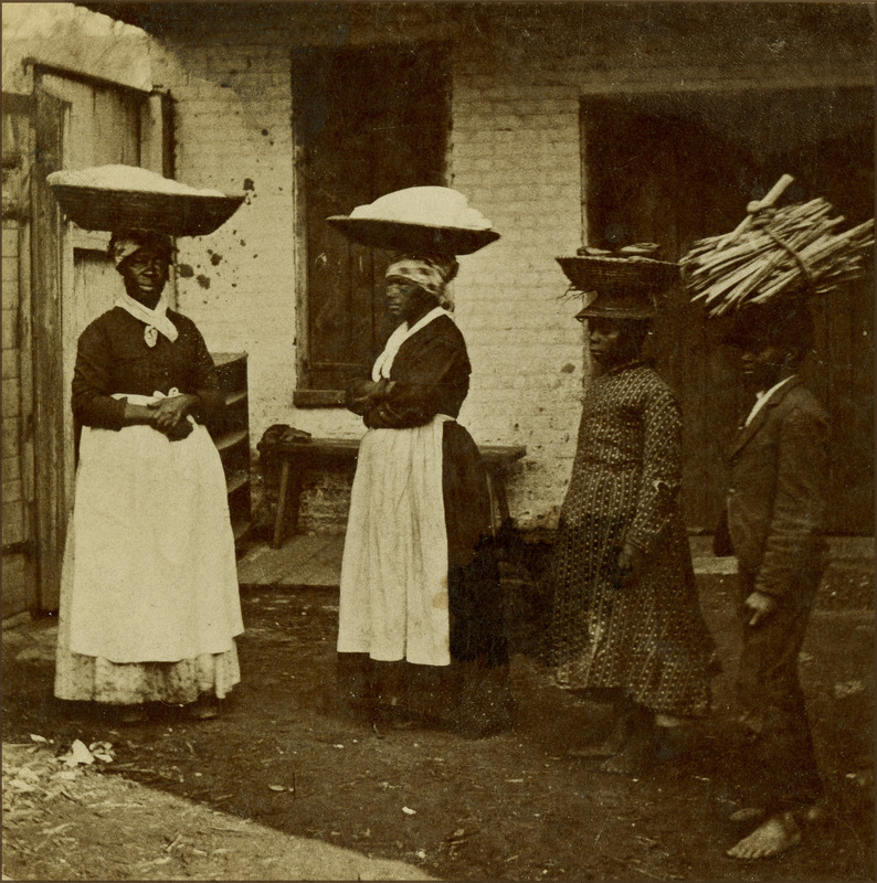 African American women and children street vendors, Charleston, South Carolina, 1879, courtesy of the College of Charleston Libraries.