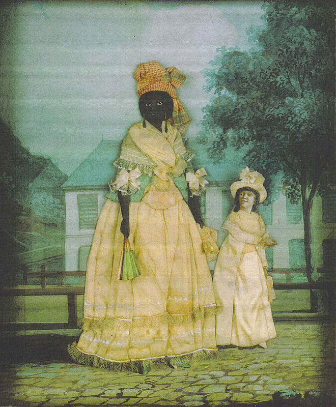 A free woman of color with her daughter, New Orleans, circa late 19th century, courtesy of Wikimedia.