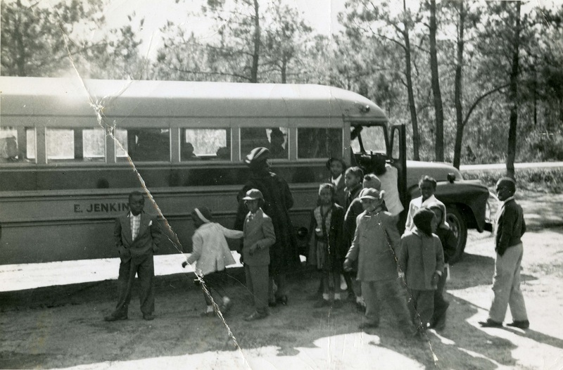 Children riding Esau Jenkins' bus, ca. 1950s and 60s, courtesy of the Avery Research Center.