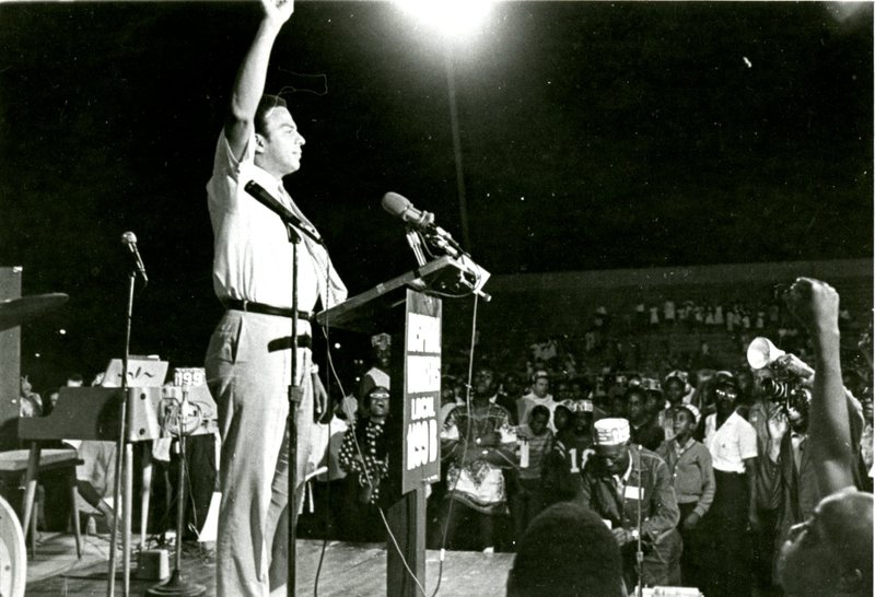 Andrew Young addressing rally, Charleston, South Carolina, 1969, courtesy of Avery Research Center.