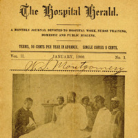 The Hospital Herald newspaper, edited by Dr. Alonzo McClennan, 1900, courtesy of Waring Historical Library, MUSC, Charleston, S.C.