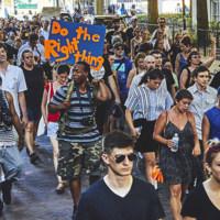 Black Lives Matter march, photograph by Zach NeSmith, June 20, 2015, Charleston, South Carolina.