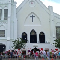 Emanuel AME Church after the Young Preservationists' event, photograph by Brittany Lavelle Tulla, July 8, 2015, Charleston, South Carolina.