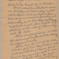 "Handwritten essay entitled ""Adult Basic Education in Charleston"" by Septima Clark (page 3 of 4), ca. 1957, courtesy of the Avery Research Center."