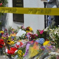 Police tape outside of the Emanuel AME Church, June 25, 2015, Charleston, South Carolina, courtesy of ABC New4 WCIV-TV.