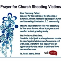 Prayer for Church Shooting Victims, Mount Pisgah AME Church, June 18, 2015, Sumter, South Carolina.