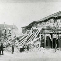 Earthquake damage, Charleston, South Carolina, 1886, courtesy of the Waring Historical Library, Medical University of South Carolina. A massive earthquake in 1886 caused extensive damage to the city's buildings, and reportedly resulted in eighty-three deaths. Avery closed temporarily due to earthquake damage to the school building.