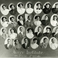 Graduating class of 1910, Charleston, South Carolina, courtesy of the Avery Research Center.