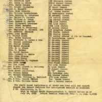 List of names of Charleston residents who signed a petition supporting school integration, July 1955, Charleston, South Carolina, courtesy of the Avery Research Center.