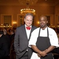 Event planners David Shields (University of South Carolina) and BJ Dennis (Personal Chef & Caterer), photograph by Jonathan Boncek, Charleston, South Carolina, April 19, 2015.
