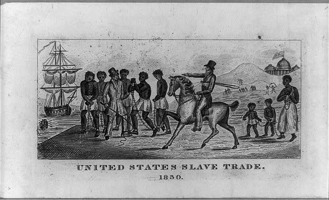 United States Slave Trade, engraving, 1830, courtesy of the Library of Congress.