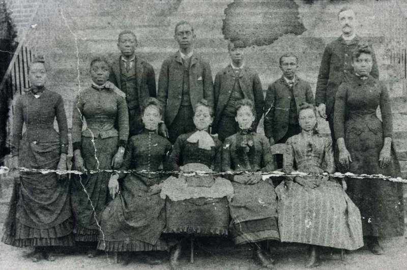 Early class photo at the Avery Normal Institute, Charleston, South Carolina, ca. 1880s, courtesy of the Avery Research Center.