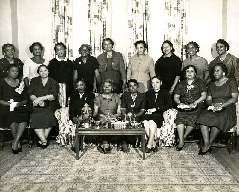 City Federation of Colored Women's Club, March 10, 1959,  Gracie B. Dobbins Collection, courtesy of the Avery Research Center.