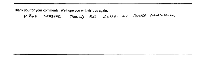 Page from museum guestbook, 2009, courtesy of the Gibbes Museum of Art.