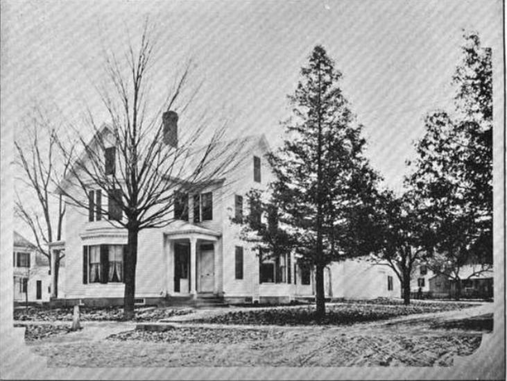 Photograph of the Carter Mansion, from <em>New Hampshire Homes,</em> James A. Wood, Concord New Hampshire, 1895.