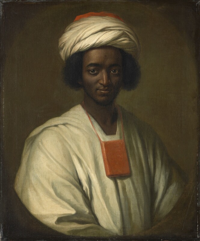Portrait of Ayuba Suleiman Diallo (Job Ben Solomon), William Hoare, London, England, 1733, courtesy of the National Portrait Gallery.