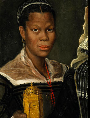 <em>Portrait of an African Slave Woman</em>, painting by Annibale Carracci, ca. 1580, courtesy of the Walters Art Museum.