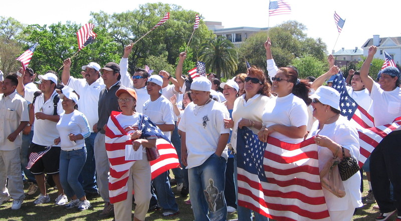Immigration Reform Rally, photograph by Marcela Rabens, Charleston, South Carolina, April 10, 2006.