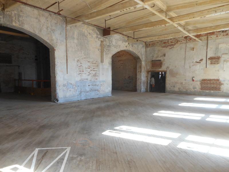 Interior of Cigar Factory, image by Kerry Taylor, Charleston, South Carolina, October 2013.