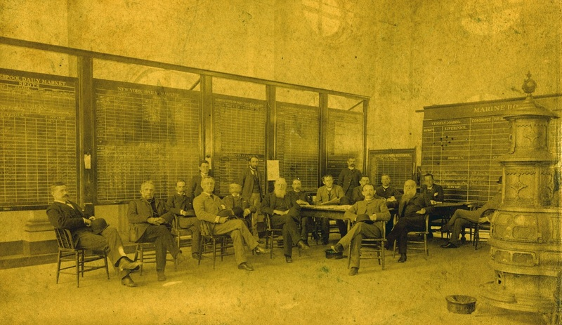 Selection from photograph of Gustave M. Pollitzer (front right) and Charleston Cotton Exchange members, Charleston, South Carolina, February 1892, Anita Pollitzer Family Papers, South Carolina Historical Society.