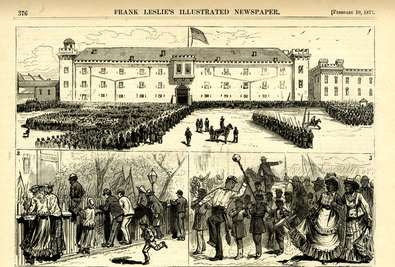 Celebration of Emancipation Day in Charleston, South Carolina, <em>Frank Leslie's Illustrated News</em>, February 10, 1877, courtesy of the Charleston Museum Archives.